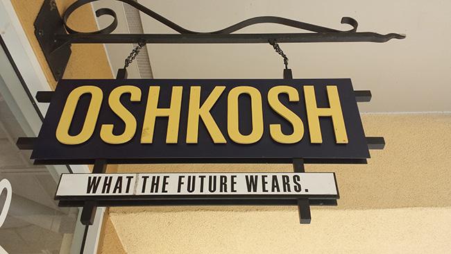 Osh Kosh store sign