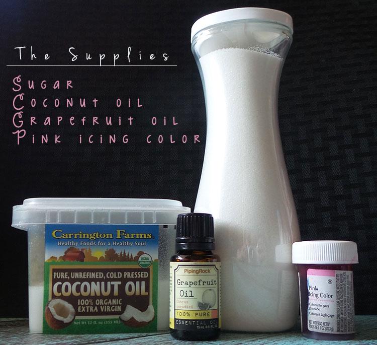 Grapefruit Sugar Scrub Recipe Ingredients