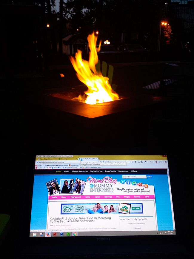 Fire pits at Basecamp Hotel in South Lake Tahoe