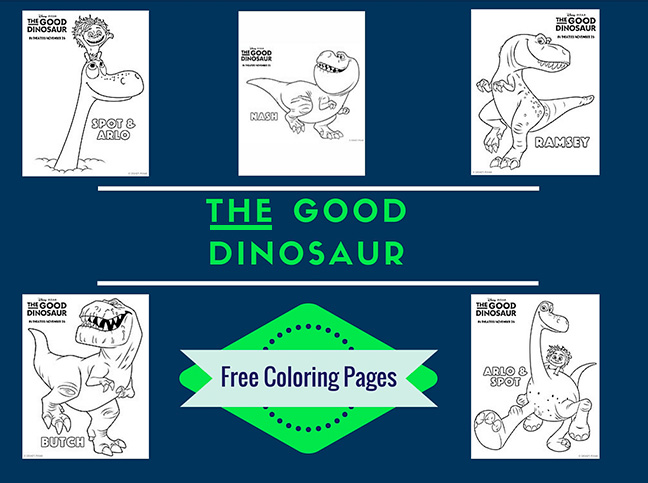 The Good Dinosaur Free Printable Coloring Pages