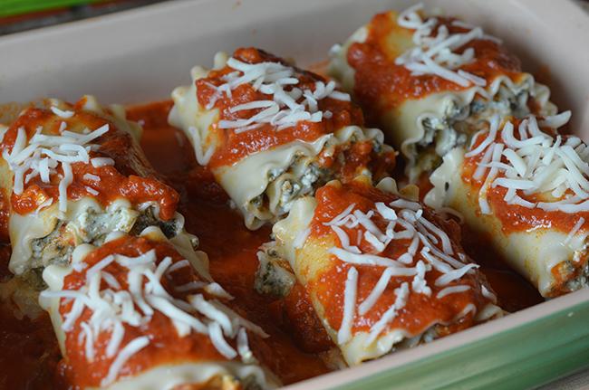 Making Spinach & Artichoke Lasagna Roll Ups #MyTuscanTable