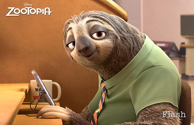 ZOOTOPIA Flash the sloth