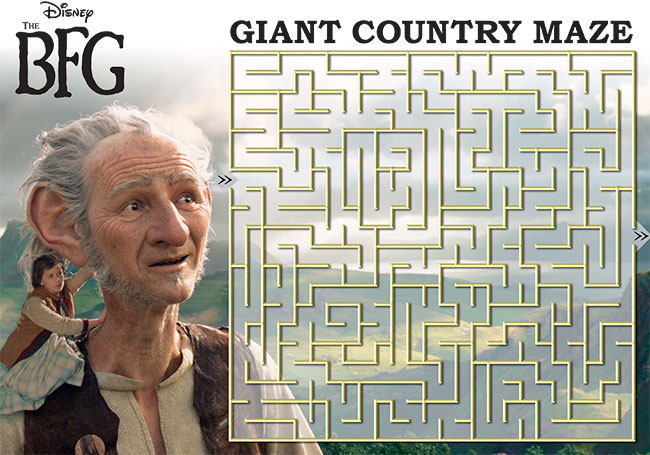 Disney THE BFG Printable Maze