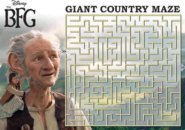Disney THE BFG Printable Maze