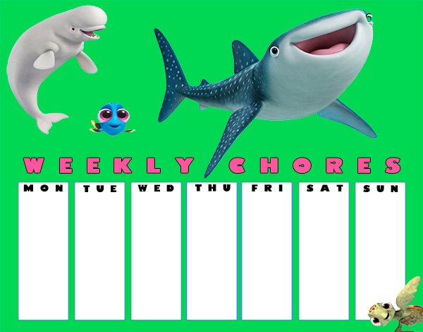 Finding Dory Chore Charts