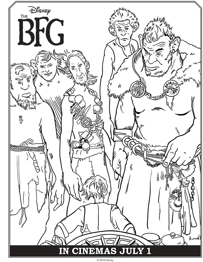 bfg coloring pages Disney's THE BFG Coloring Pages & Activities #TheBFG bfg coloring pages