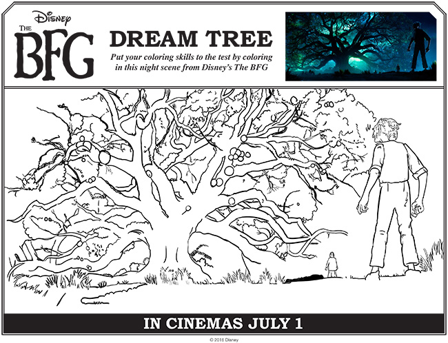 Disney THE BFG Coloring Pages & Activities