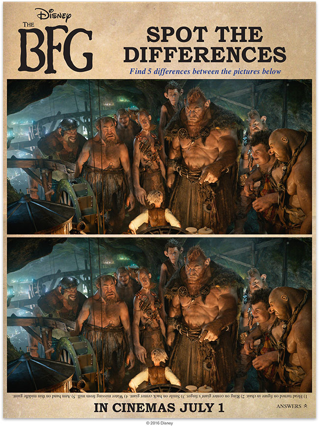 Disney's THE BFG Spot The Differences