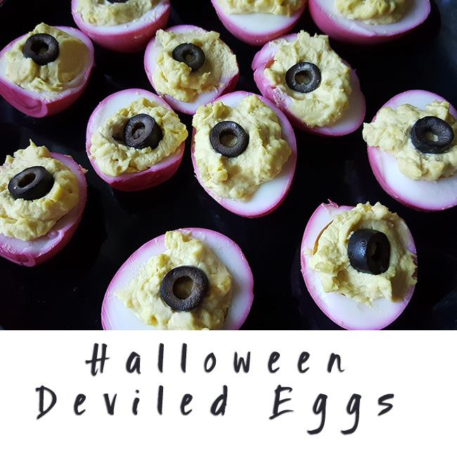 Halloween Deviled Eggs