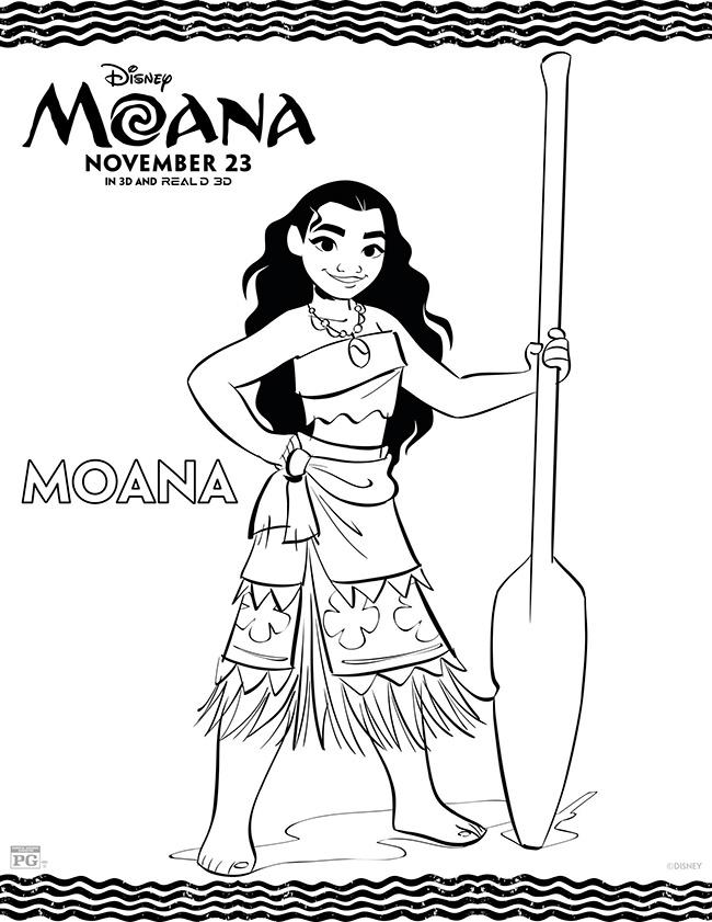 Moana Coloring Page - Moana