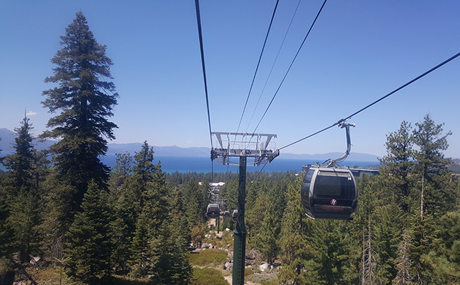 View of Lake Tahoe from Heavenly Gondola