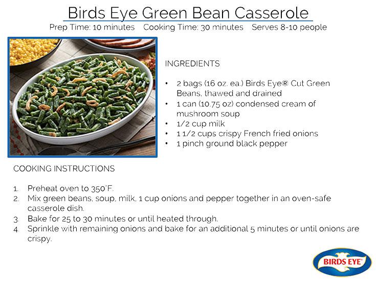 Birds Eye Green Bean Casserole