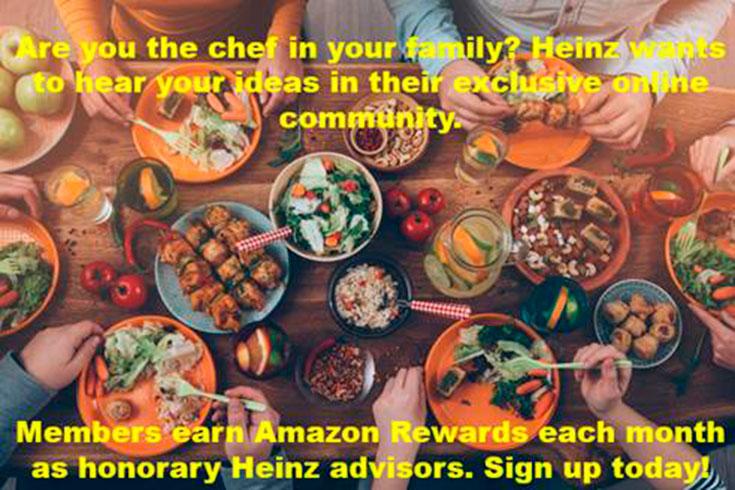 Become A Honorary Heinz Advisor & Earn Amazon Gift Codes