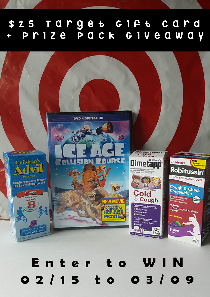 $25 Target Gift Card & Prize Pack Giveaway