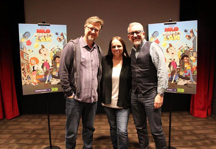 """Milo Murphy's Law Creators Dan Povenmire and Jeff """"Swampy' Marsh with Stefani Tolson"""