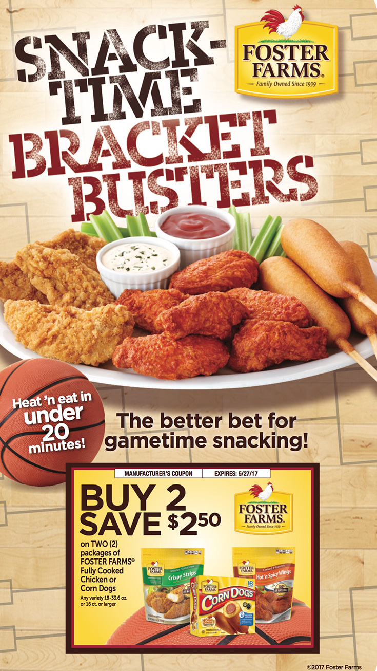 Foster Farms Snack Time Bracket Busters
