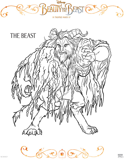 Printable Beast Coloring Page