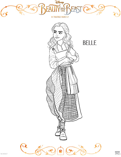 Printable Belle Coloring Page