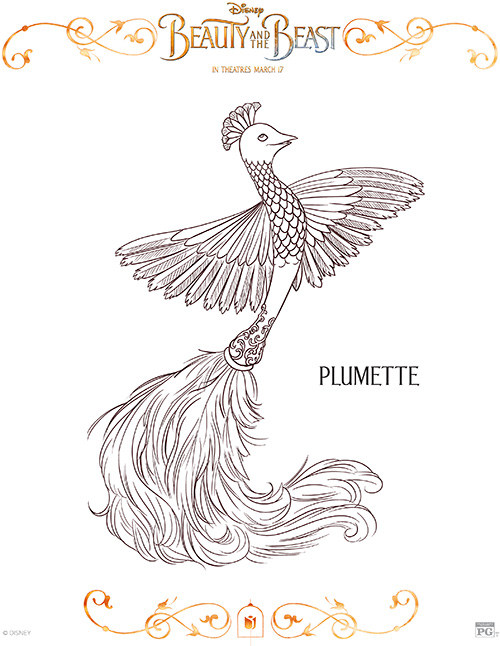 Printable Plumette Coloring Page