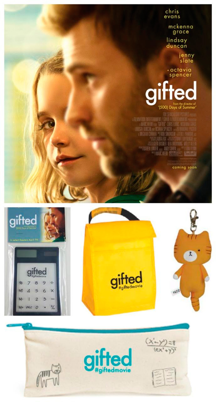 Chris Evans - Gifted Movie Swag Giveaway