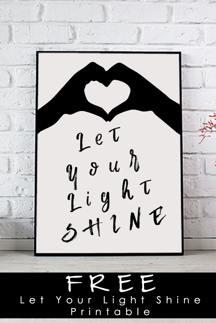 Free Let Your Light Shine Printable