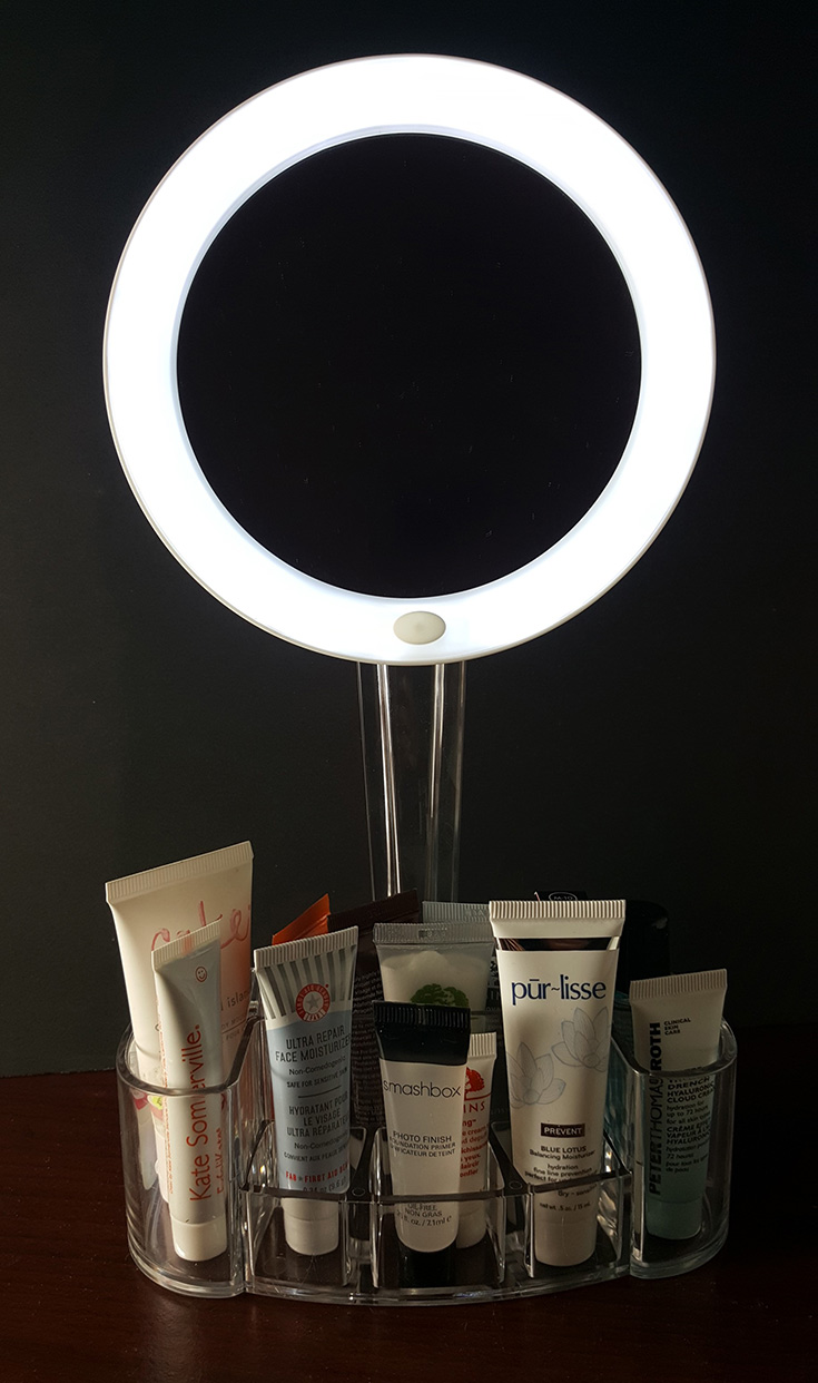 ToiletTree LED Magnified Mirror And Cosmetic Organizer