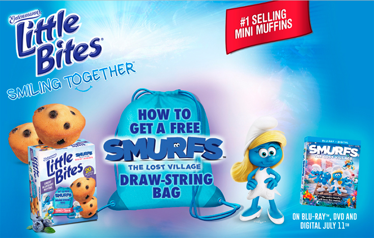 Free Smurf's The Lost Village Draw-String Bag Promo