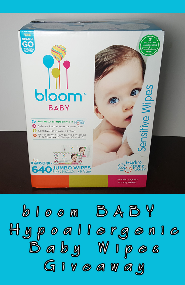 bloom BABY Hypoallergenic Baby Wipes Giveaway