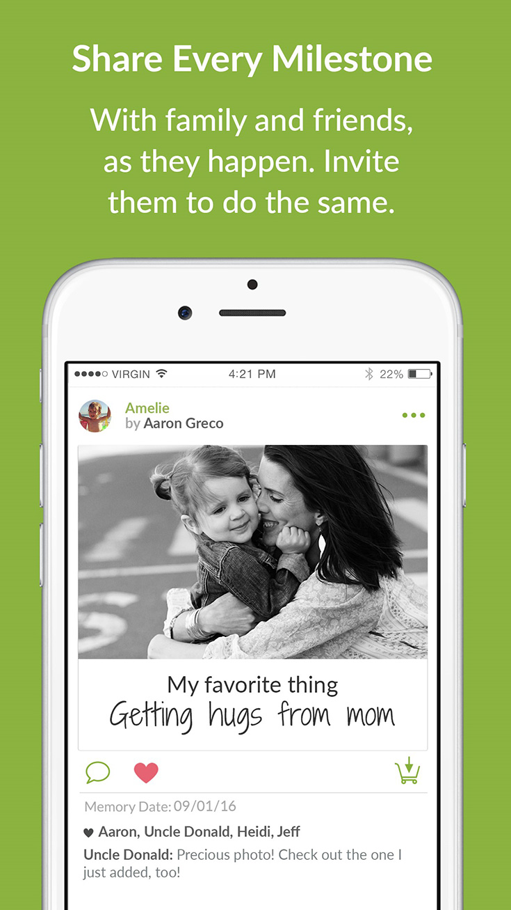 Store, Share & Print Your Child's Memories With The TreeRing Memories App