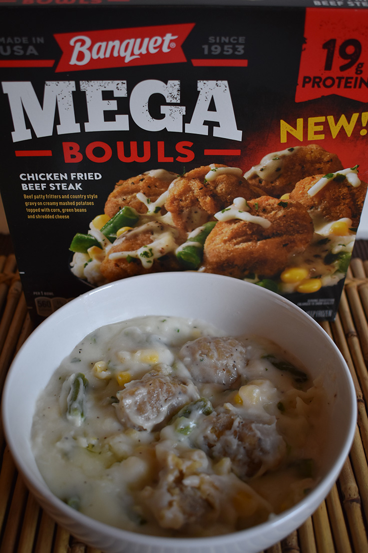 Chicken Fried Beef Steak Banquet MEGA Bowls