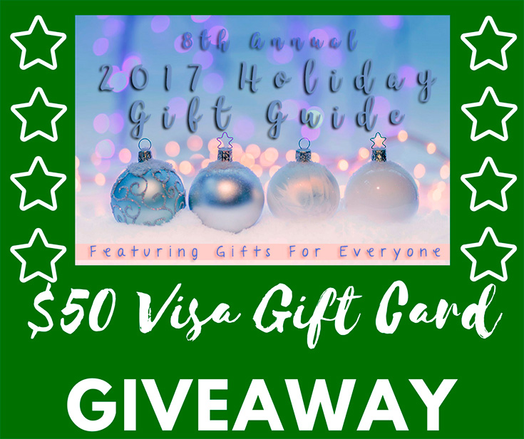 2017 Holiday Gift Guide + $50 Visa Gift Card Giveaway