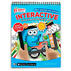 Zipit Interactive Coloring and Activity Book