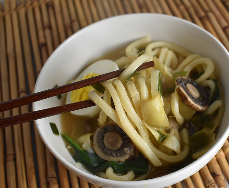 Mushroom & Artichoke Udon Soup