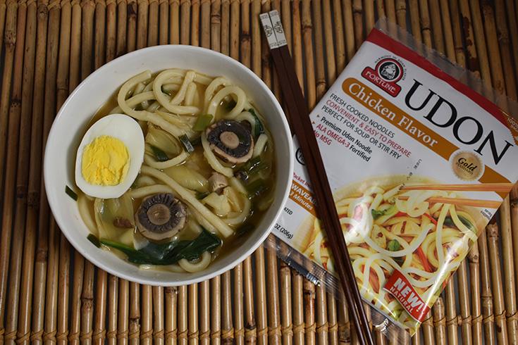 Mushroom & Artichoke Udon Soup Recipe