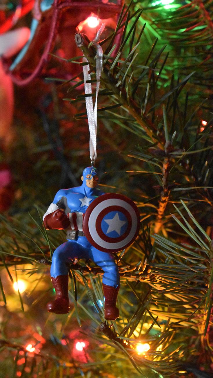 Personalized Captain America Ornament