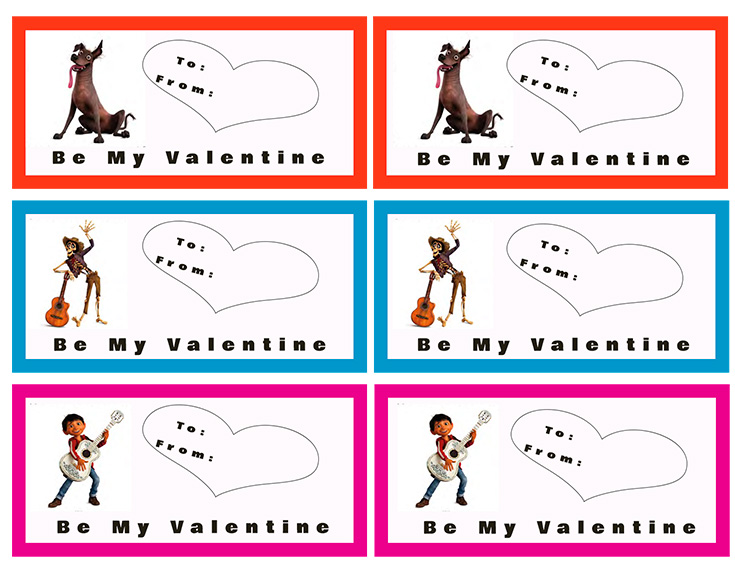 Free Printable Coco Valentines Day Cards