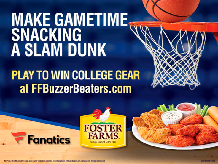 Foster Farms Buzzer Beaters