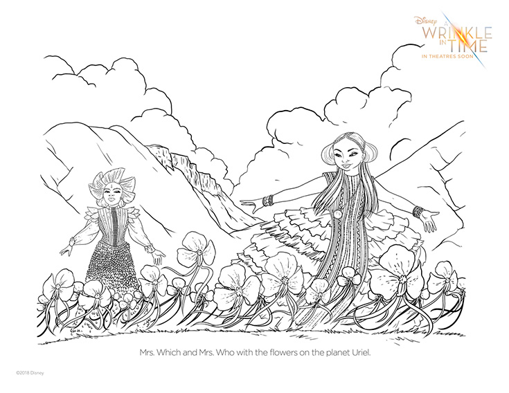 Free A Wrinkle In Time Coloring Page #1