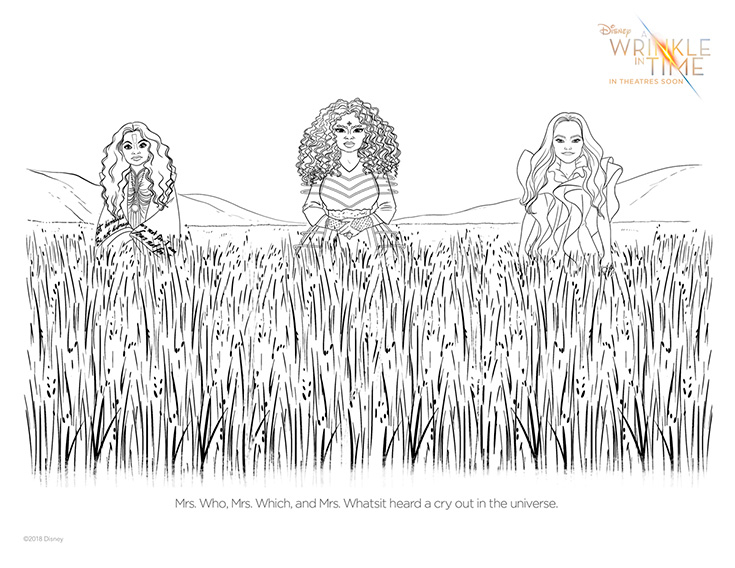 FREE A Wrinkle In Time Coloring Page #5