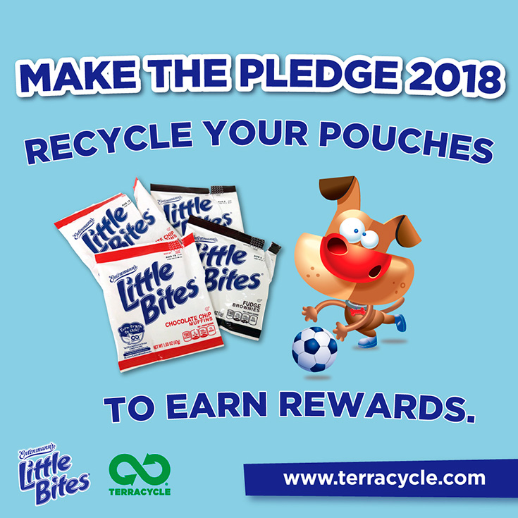 Make the Pledge With Entenmann's Little Bites Pouch Recycling Program with TerraCycle