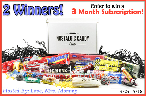 3 Month Nostalgic Candy Club Subscription Giveaway