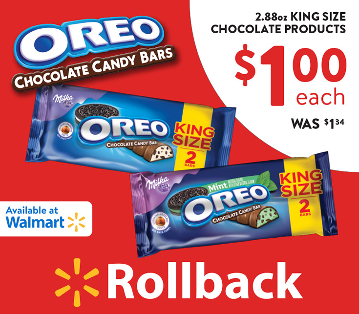 Grab Your OREO Chocolate King Size Candy Bars On Rollback at Walmart