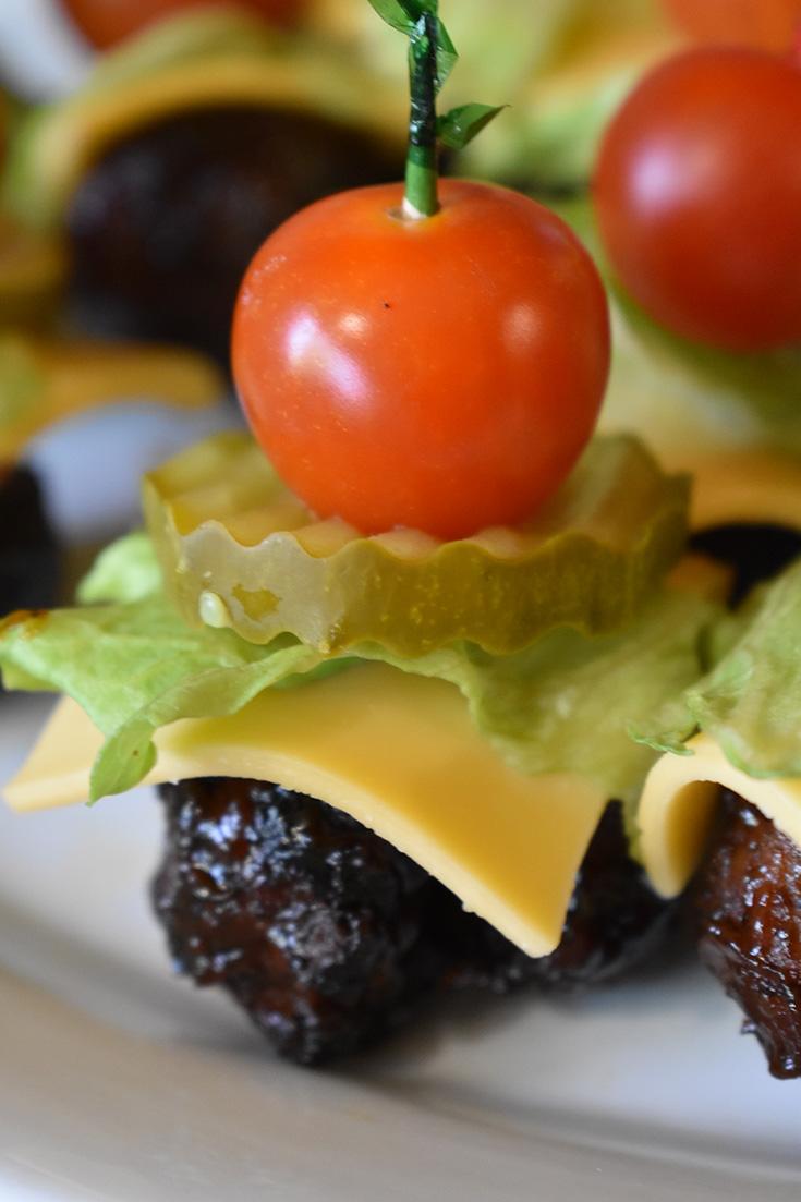 BBQ Cheeseburger Meatballs