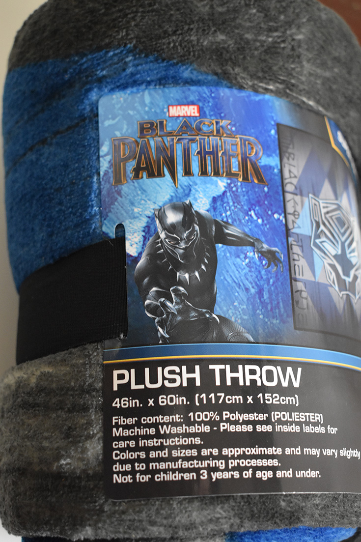 Black Panther Plush Throw Blanket