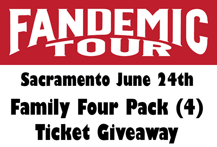Fandemic Tour Sacramento Family Four Pack Ticket Giveaway