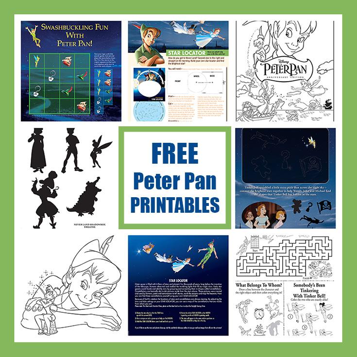 FREE Peter Pan Anniversary Printables