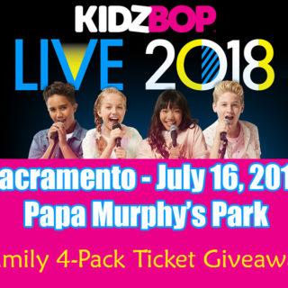 KIDZ BOP Live 2018 Tour - Sacramento Family 4 Pack Ticket Giveaway