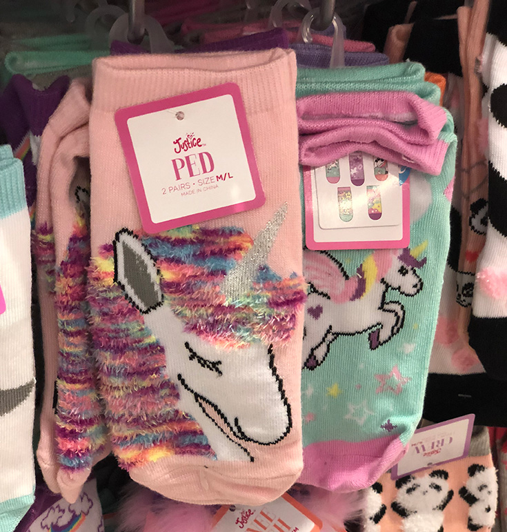 Justice Unicorn Socks