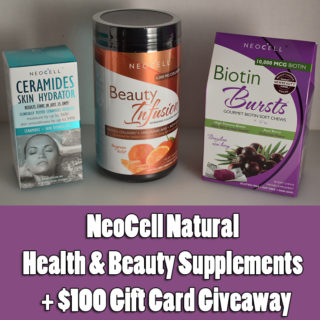 NeoCell Natural Health & Beauty Supplements + $100 Gift Card Giveaway