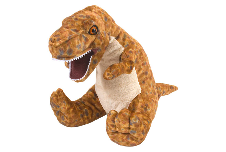 80017ce863b This plush that we received is the 12″ Wild Republic T-Rex but you can also  find a variety of dinosaur plush on their website in both smaller and larger  ...